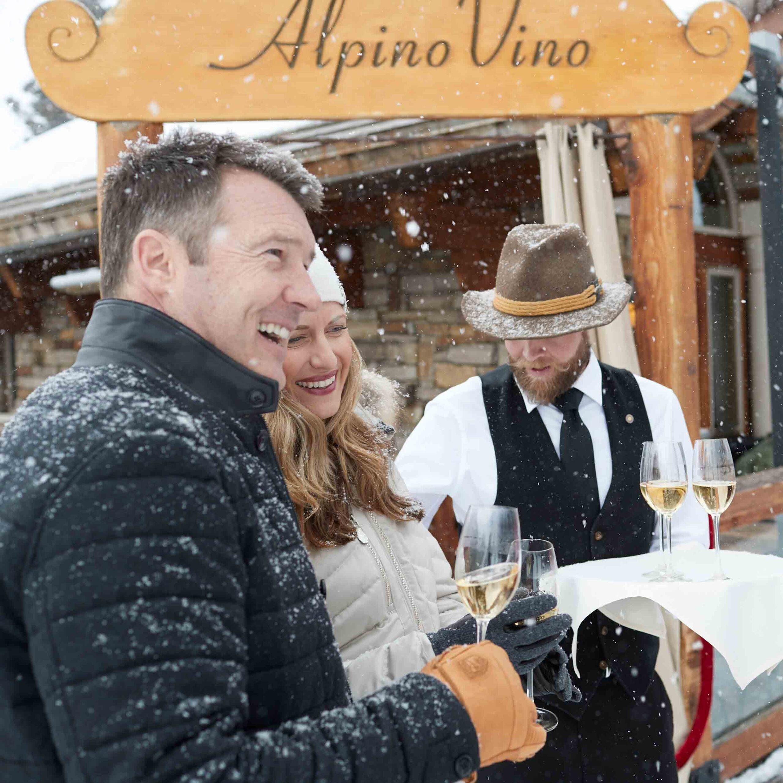 Couple with Wine at Alpino Vino