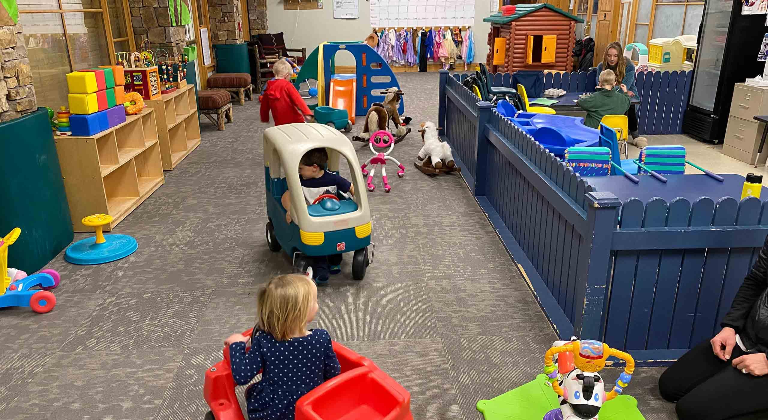 Cubs Camp Nursery Kids Playing Inside