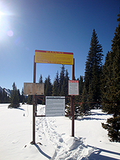 Backcountry Gate at Bald Saddle