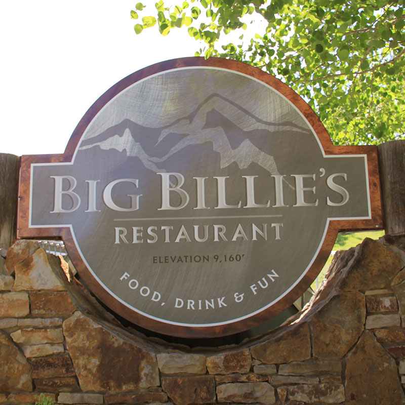 Big Billie's Restaurant Sign