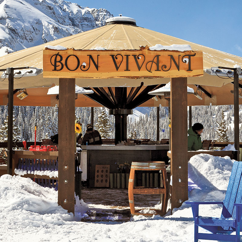 Bon Vivant Exterior on a Sunny Winter Day