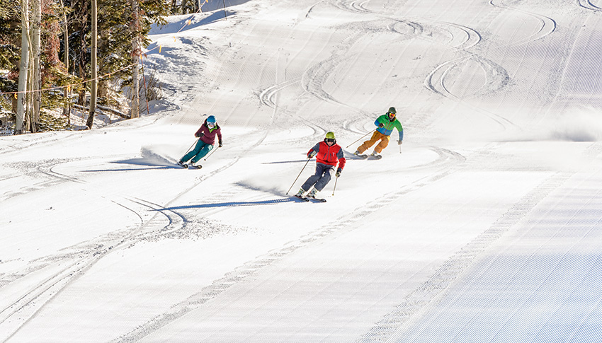 Ski Lesson on a Groomed Run