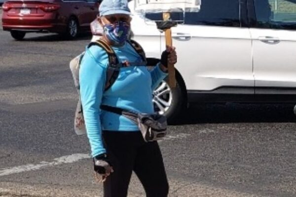 Jovita with Black Lives Matter sign
