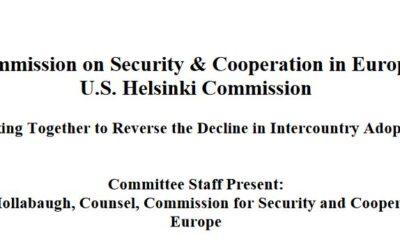 Transcript of the Helsinki Commission