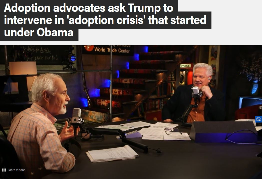 Ron Stoddart appears on Glenn Beck to discuss adoption issues.