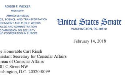 Senator Wicker Letter to Carl Risch