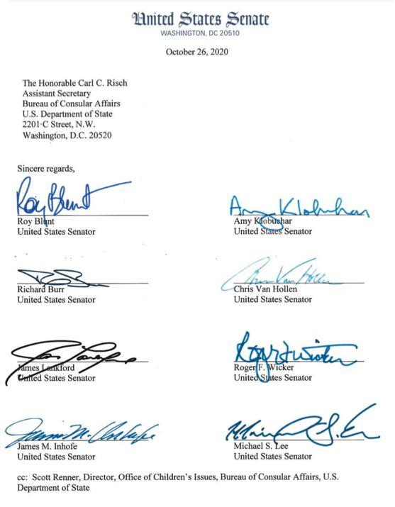 Senators demand change for international adoption