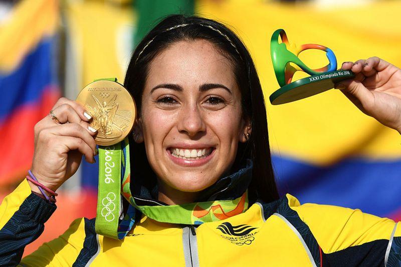 Mariana Pajón,  tiene 3 medallas olímpicas