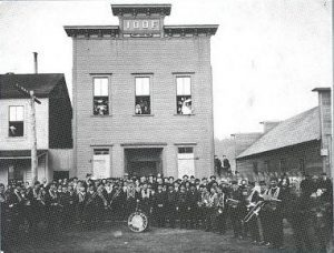 IOOF Hall with Coronet Band