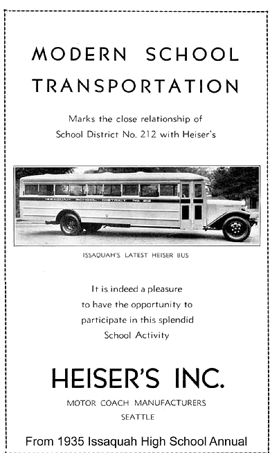 Issaquah School Bus 1935