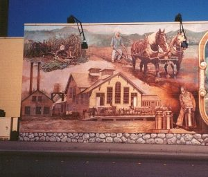 Dairy Mural, left panel