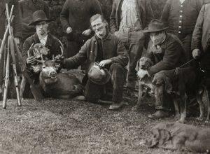 Jack, Robert & Ben Legg, hunting party