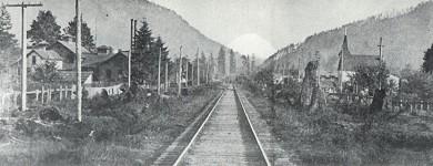 Railroad Tracks into town