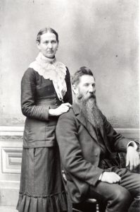 Martha Stewart Bush and John Bush, circa 1870s