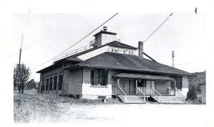 Issaquah's fire hall, circa 1940.