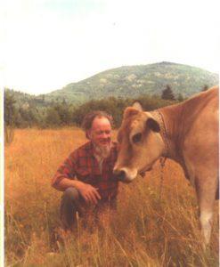 Irving Petite with bovine companion, 1978.
