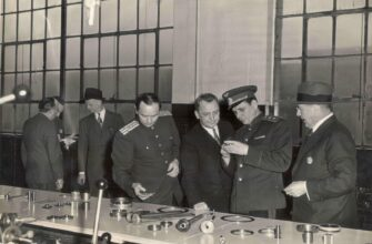 Historical Photos of Soviet Delegation at the Ford Motor Company Plant