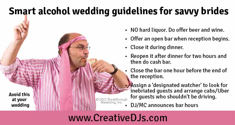 alcohol wedding guidelines