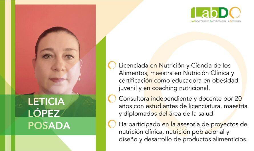 Accesibilidad a alimentos sanos, clave en el combate al sobrepeso y la obesidad: nutrióloga Leticia López Posada