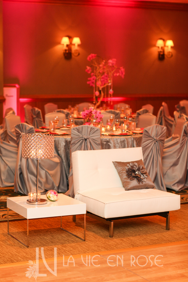 la-vie-en-rose-wedding-tree-centerpiece-crystal-strand-silver-chair-cover-linens-LED-up-lighting-white-lounge-furniture-throw-pillows-guest-table-hyatt-regency-clearwater-beach-florida
