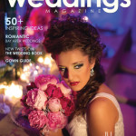 La Vie en rose Design's Pink peony Bouquet and Tablescape on the Cover of Tampa Bay Weddings Magazine