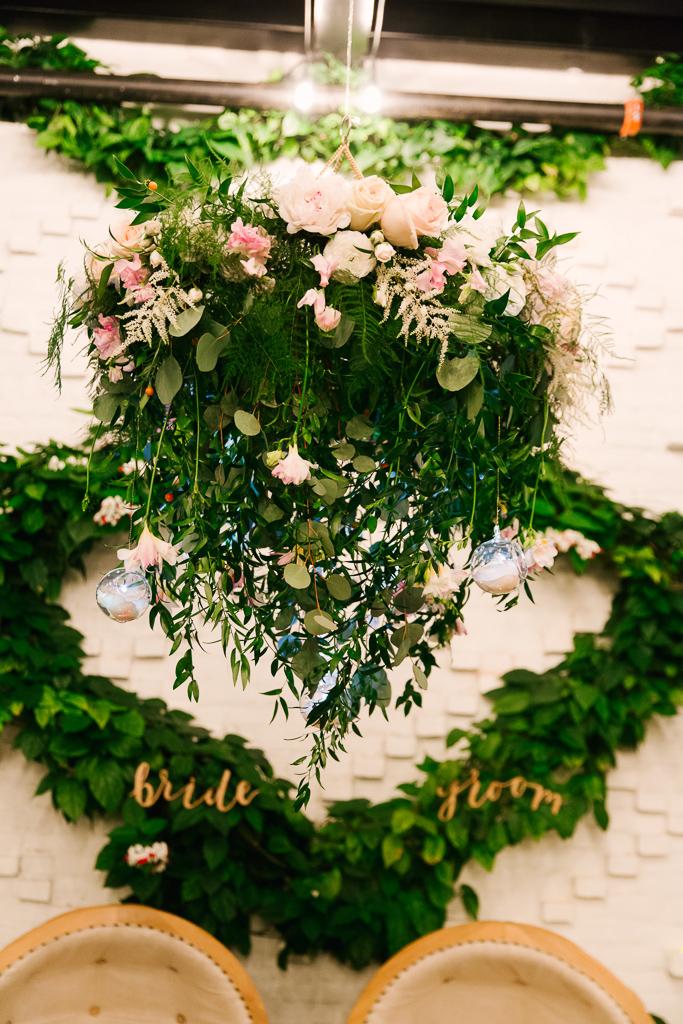 La-vie-en-rose-tampa-florida-wedding-gorgeous-reception-chandelier-white-ivory-blush-hydrangea-peony-garden-flower-elegant-oxford-exchange