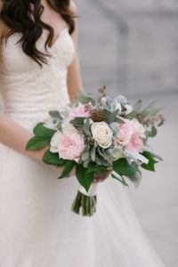 La-vie-en-rose-tampa-florida-wedding-gorgeous-bride-bouquet-ceremony-white-ivory-pink-garden-flower-eucalyptus-elegant-oxford-exchange