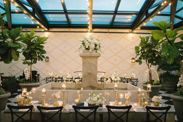 La-vie-en-rose-tampa-florida-wedding-reception-white-runner-ivory-gold-garden-flower-fountain-elegant-oxford-exchange