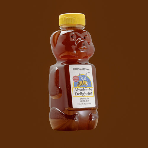 24oz Plastic Honey Bear with Desert Wild Flower Honey