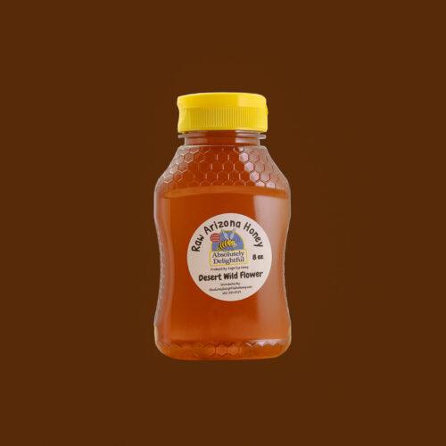8oz Plastic Hourglass Jar with Desert Wild Flower Honey