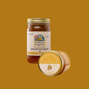 12oz Ginger Infused Honey Jar and Lid