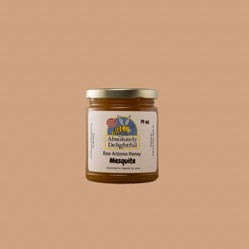 Regular Sized Jar of Crystallizing Mesquite Honey