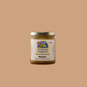 Thick Crystallized Mesquite Honey in a Regular Jar