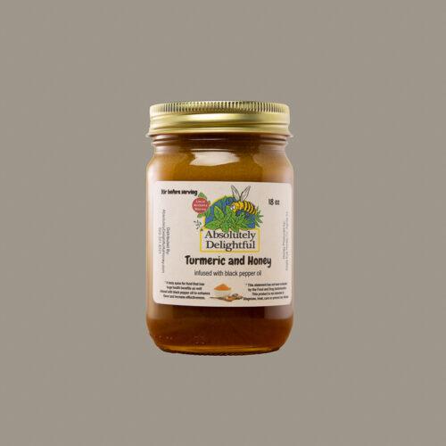 18oz Black Pepper and Turmeric Infused Honey Jar