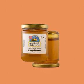 Medium Jars of Orange Blossom Honey Floating