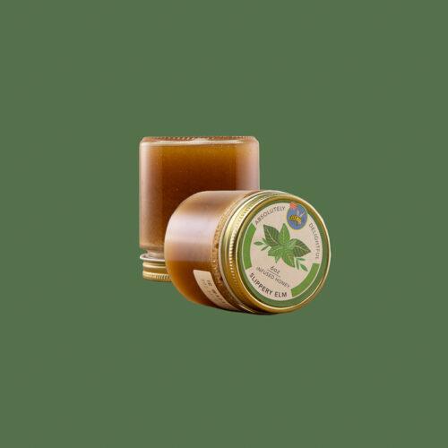Small Jar of Slippery Elm Infused Honey Jar and Lid
