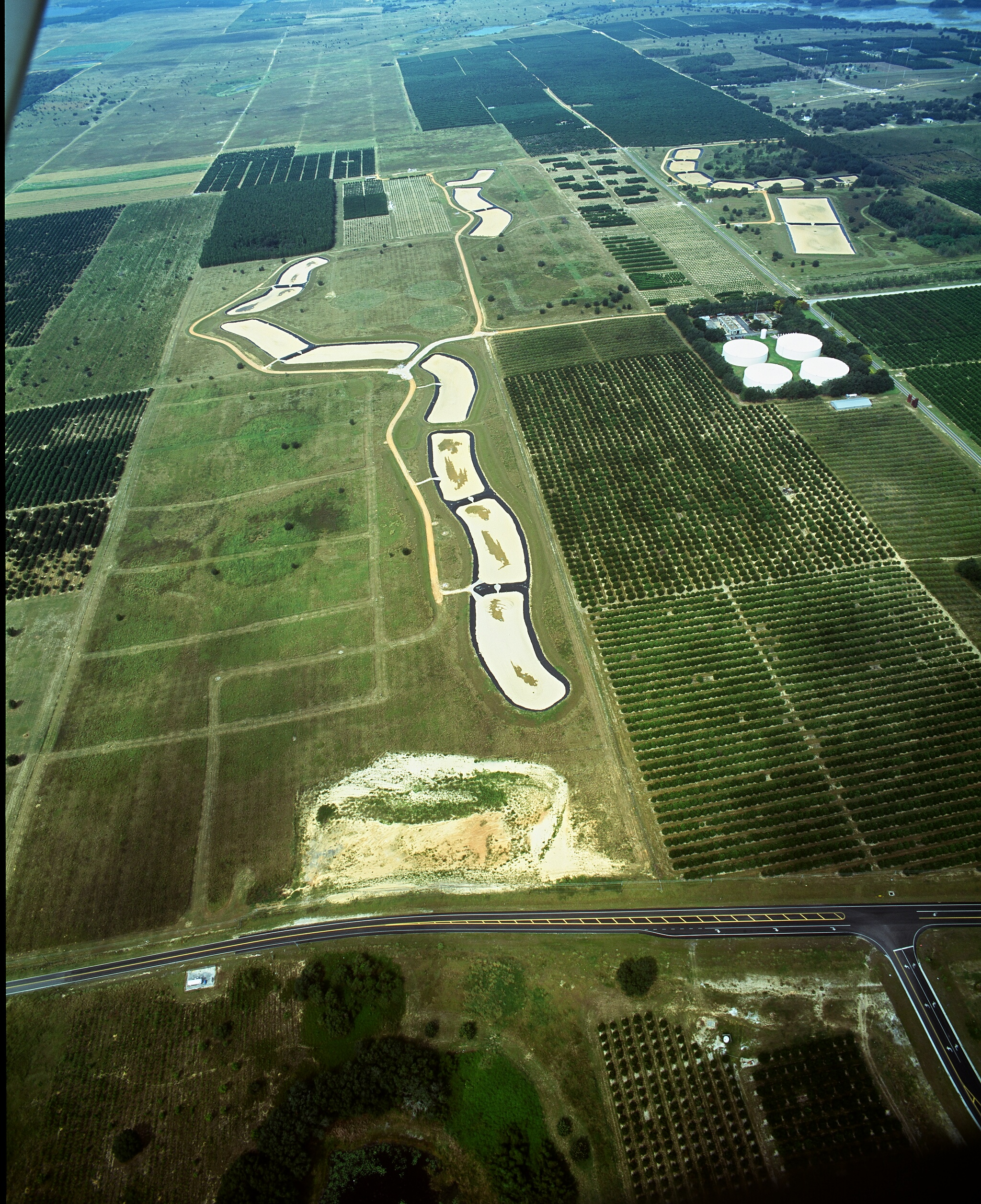 Aerial view of Rapid Infiltration Basin Site 3