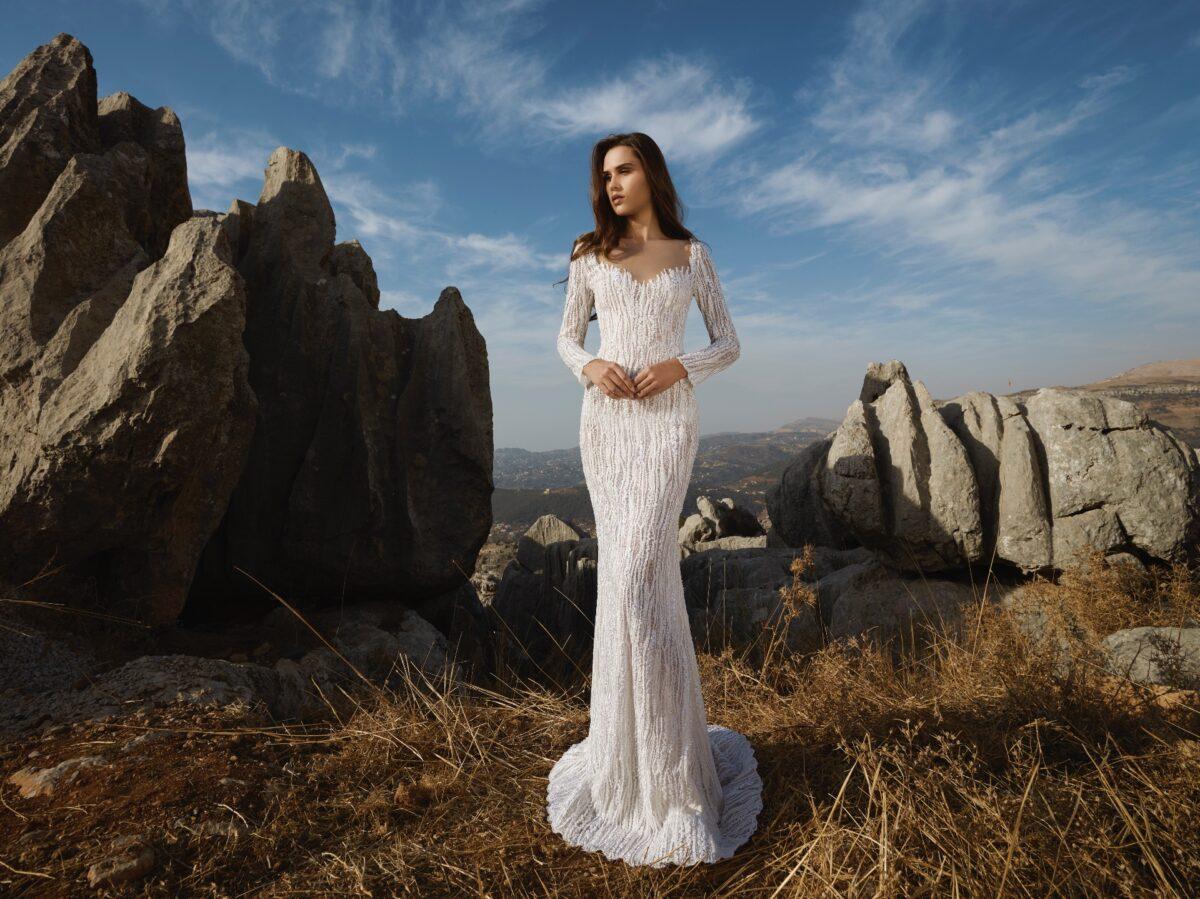 Crystalline bridal gown by Tony Ward