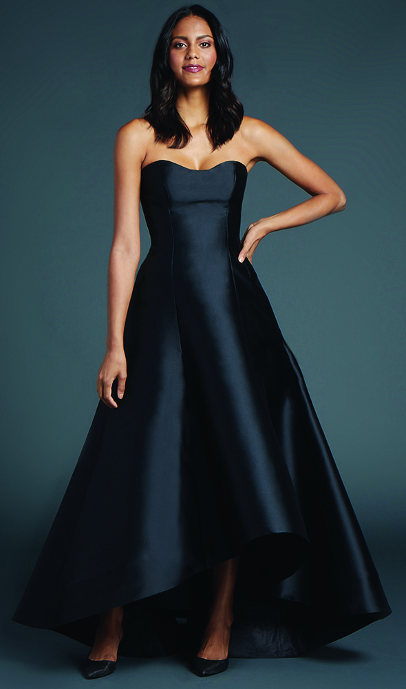 Anne Barge's Mason Evening Gown: Sweetheart High-Low princess seam A-Line gown of Mikado