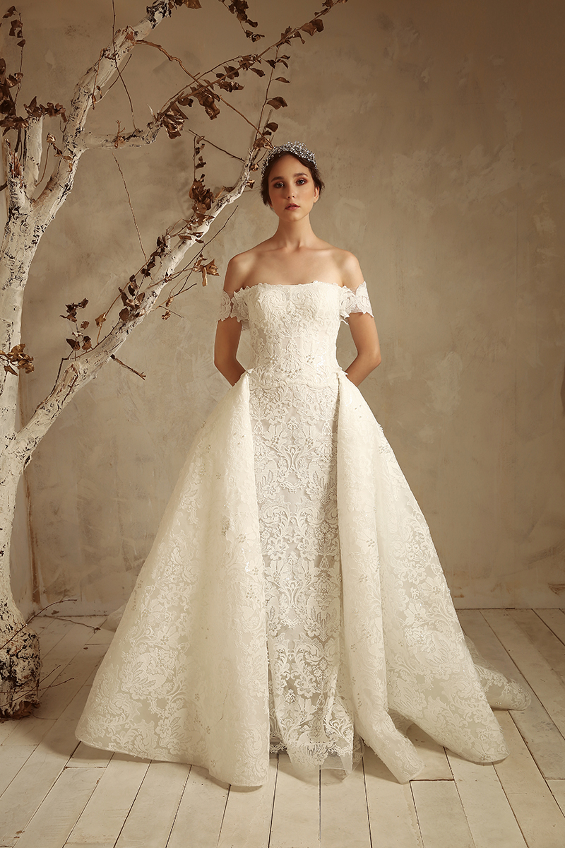 Magnolia with overskirt by Tony Ward