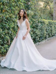 Blue Will Anne Barge Bridal Gown
