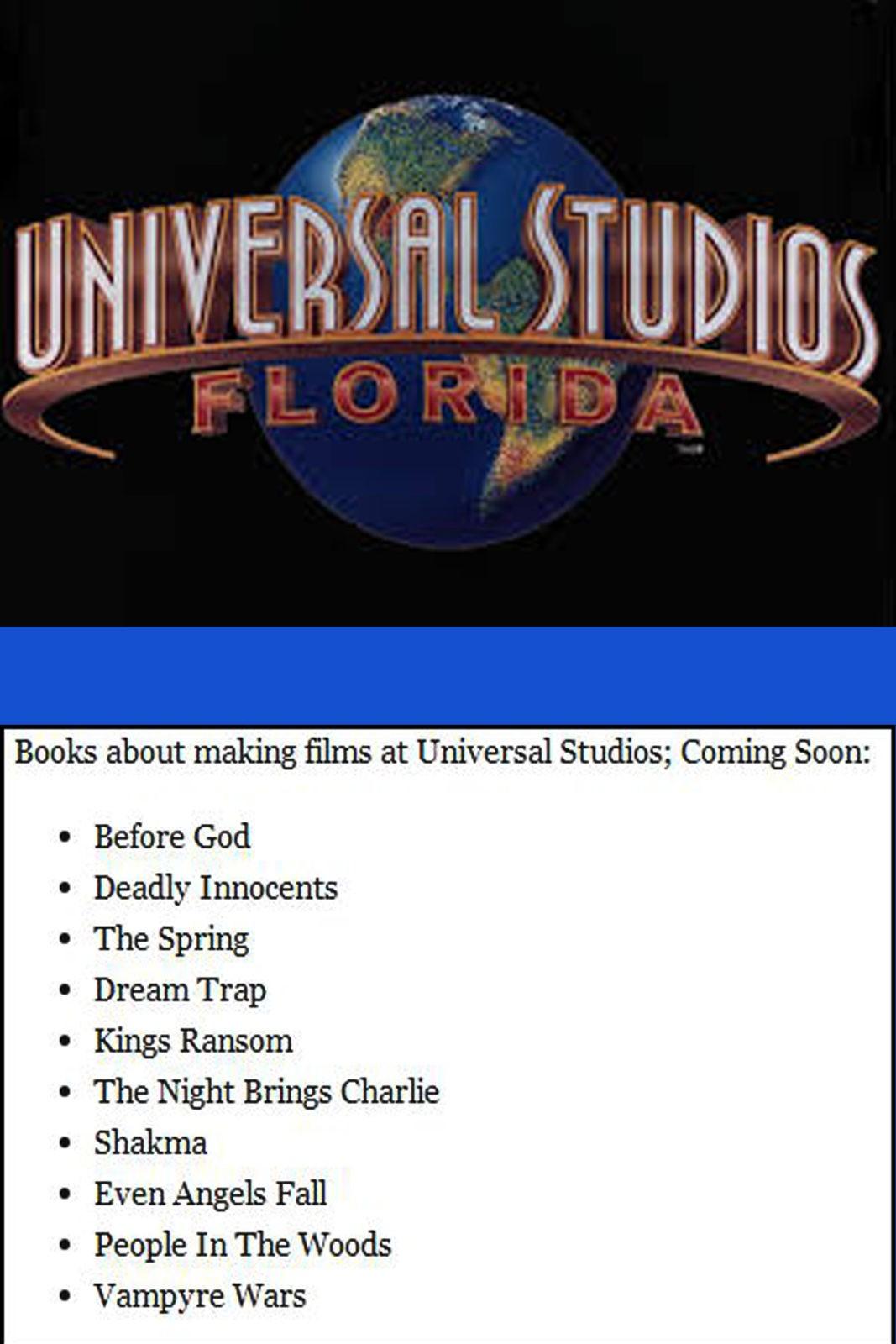 Making Films Universal Studios