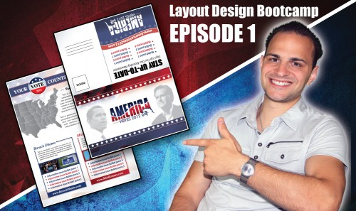Layout Design Bootcamp – Episode 1 – Direct Mail Piece