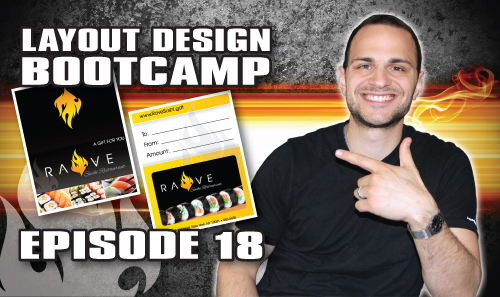 Layout Design Bootcamp – Episode 18 – Gift Card & Holder Design
