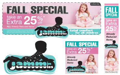 professional web banner ad unit graphic design layout
