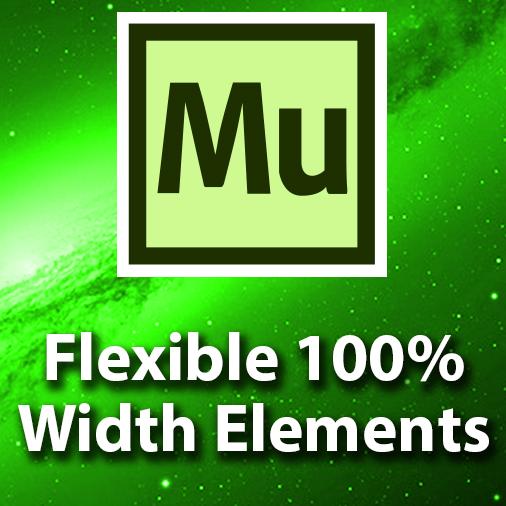 Adobe Muse CC Tutorial – 100% Flexible Width Elements