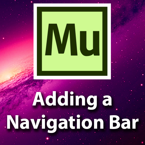 Adobe Muse Tutorial – Adding A Navigation Bar