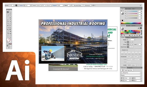 Professional Postcard Design In Adobe Illustrator CC 2014