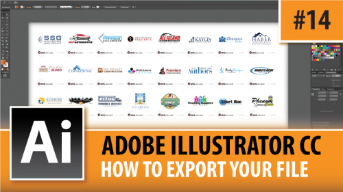Adobe Illustrator Creative Cloud – How To Export Your File – Episode #14