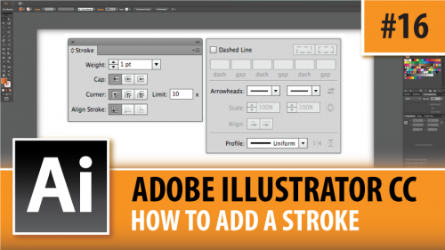 Adobe Illustrator Creative Cloud – How To Add A Stroke – Episode #16